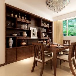 時尚中式三居室裝修效果圖欣賞