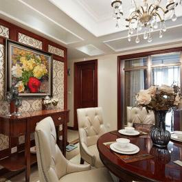 160平米溫馨混搭公寓室內裝修圖片