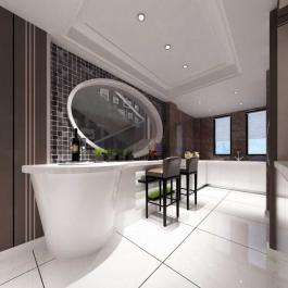 黑白简约复式家居室内装修案例欣赏