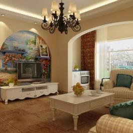 珠江逸景家園88平二居地中海風格裝修設計