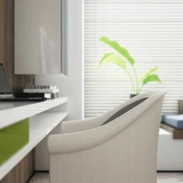 80平米简约风格绿色创意家居装修图