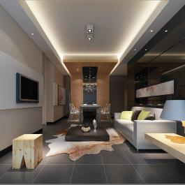 90平米簡約風格兩室兩廳裝修效果圖