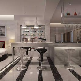 90平米简约时尚精致家居装修设计赏析