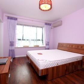 簡約婚房粉色臥室飄窗設計