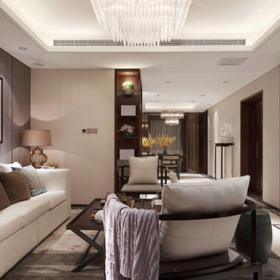 南湖國際三居室客廳設計