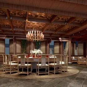 上海凱博農莊餐廳包廂設計