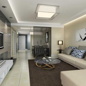 簡約設計四居室客廳圖片