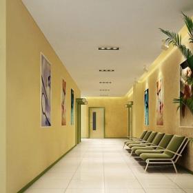 医院过道效果图 河西医院装修效果图