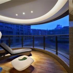 中式阳台样板房装饰效果图