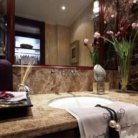 古典歐式風格衛生間洗手盆效果圖