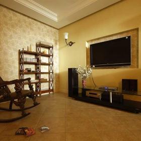 古典中式休閑小客廳設計