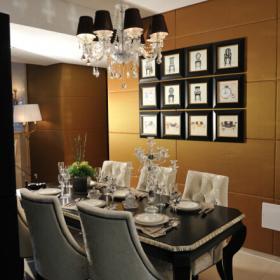 109平歐式新古典風格餐廳背景墻圖片