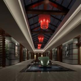 中式会所大厅设计效果图