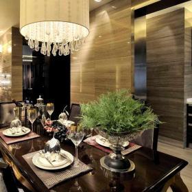 欧式风情大气三居室设计餐厅图片