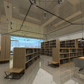 圖書館書架展示圖片