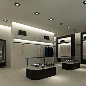 一樓男裝展示區 范思哲服裝概念館設計