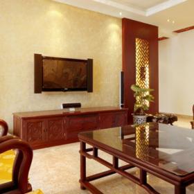 雅郡中式古典客廳設計