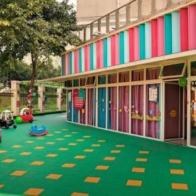 幼兒園室外裝修圖片