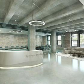 公司室内前台吊顶设计效果图