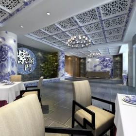 紫澜门饭店大厅吊顶设计图片