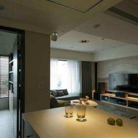 現代簡約四居室客廳設計