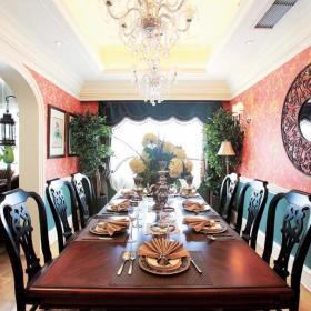 89平歐式地中海風格餐廳背景墻圖片