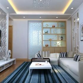現代客廳博古架設計圖片
