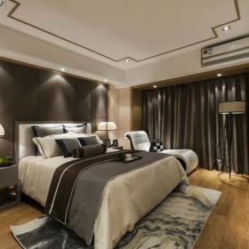 卧室背景墙中式家装图片效果图