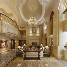 歐式風格復式住宅客廳吊頂設計
