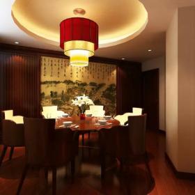 中式辦公室餐廳吊頂設計