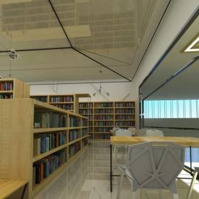 图书馆书架陈列图片