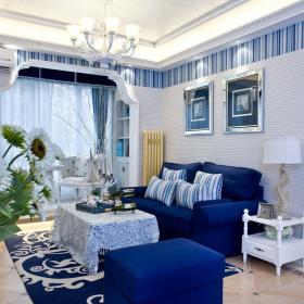 地中海清新客廳設計