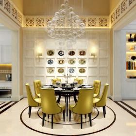四居室混搭設計餐廳設計效果圖