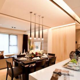 簡約原木餐廳吊頂設計
