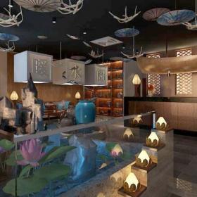 室內景觀 鑾水閣足浴會所裝修效果圖