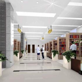 大型圖書館書架圖片
