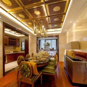 东南亚异域风情三居室餐厅装饰效果图