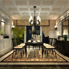 歐式豪華餐廳背景墻圖片