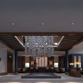 溫泉賓館大堂裝修設計