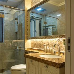 美式風格衛生間洗手盆設計
