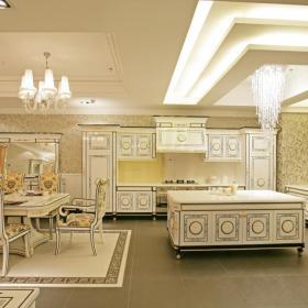 126平中式家装风格厨房餐厅装修设计