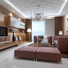 80平米簡約二居室客廳飄窗設計
