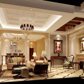 潮白河孔雀城别墅客厅设计