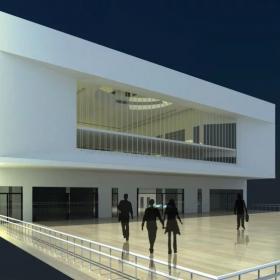 圖書館建筑外觀圖片