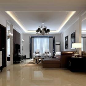 黑白色調美式客廳設計