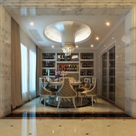 奢華歐式餐廳酒柜圖片