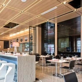 大廳 時尚快餐廳室內裝修效果圖