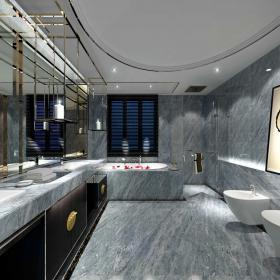 现代风格家装灰色卫生间图片展示
