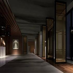 中式会所走廊装饰图片欣赏