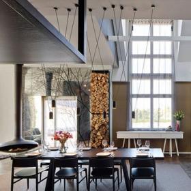 寬敞住宅空間餐廳餐廳效果圖